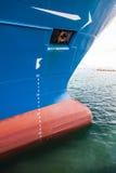 W schronieniu duży statek Zdjęcie Royalty Free