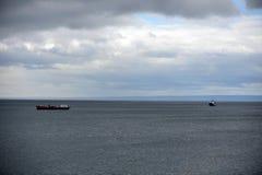 W schronieniu port Punta Arenas Obrazy Royalty Free