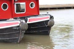 Wąscy boals na kanale Obrazy Royalty Free