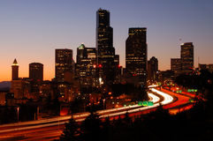 w Seattle silhoutted Zdjęcia Royalty Free