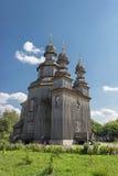 W Sednev ukraiński drewniany kościół Obrazy Royalty Free