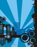 w serii miasta zachodzącego słońca ilustracja wektor