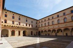 W Sforza kasztelu Obraz Royalty Free
