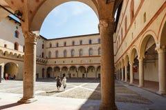 W Sforza kasztelu Obrazy Royalty Free
