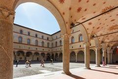 W Sforza kasztelu Zdjęcia Stock