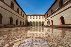 W Sforza kasztelu Obrazy Stock
