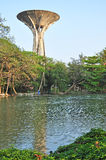 W Silpakorn Uniwersytecie stary zbiornik wodny Zdjęcia Stock