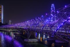 W Singapur Helix Most fotografia royalty free