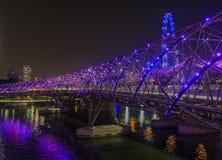 W Singapur Helix Most obrazy royalty free