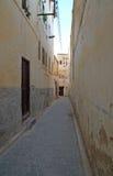 Wąska ulica w Fes, Maroko Obraz Stock