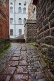 Wąska ulica w fortecy Zdjęcia Royalty Free