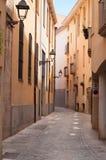 Wąska ulica w Starym miasteczku. Girona. Hiszpania Obrazy Stock