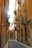 Wąska ulica w Verona Zdjęcie Stock