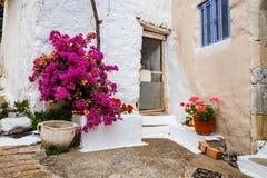 Wąska ulica w wiosce Kritsa blisko Agios Nikolaos Obrazy Royalty Free