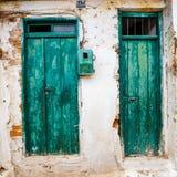Wąska ulica w wiosce Kritsa blisko Agios Nikolaos Zdjęcie Stock