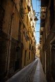 Wąskie ulicy Cagliari, Sardinia Obraz Stock