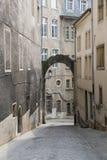 Wąskie ulicy Luksemburg obrazy royalty free