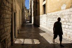 W?skie ulicy stary miasto obrazy royalty free