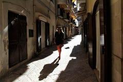 W?skie ulicy stary miasto zdjęcie stock