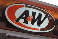 A&W-snabbmatrestaurang Arkivbild