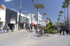 W Snata Monica trzeci Uliczny Deptak Kalifornia Obraz Stock