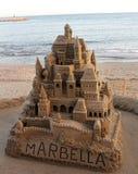 W Spain wielki sandcastle fotografia royalty free