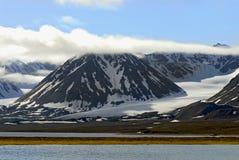 W Spitzb Tundra arktyczny Krajobraz Obraz Royalty Free