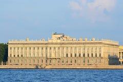 W st. marmurowy Pałac Petersburg zdjęcie stock