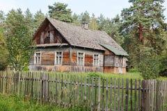 W starym stylu drewniany dom Obraz Royalty Free