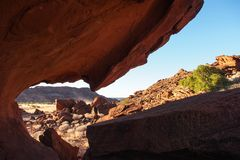 W?stenansicht bei Twyfelfontein in Damaraland Namibia stockbild