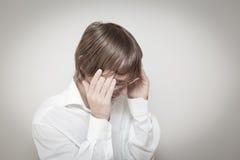 W stresie mężczyzna portret Fotografia Stock