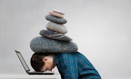 W stresie problemy Mieszani środki Fotografia Stock