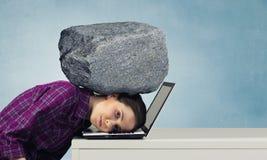 W stresie problemy Mieszani środki Obraz Stock