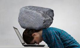 W stresie problemy Mieszani środki Zdjęcia Stock