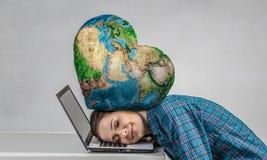 W stresie problemy Mieszani środki Zdjęcie Stock