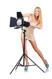 W studiu Attrative kobieta Fotografia Stock