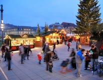 W Stuttgart Boże Narodzenie Rynek Zdjęcia Stock