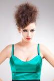 W sukni piękna młoda kobieta Zdjęcie Royalty Free