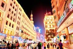 W Szanghaj Nanjing Droga Obrazy Stock