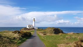 W Szkocja Turnberry latarnia morska fotografia royalty free