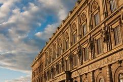 W Sztokholm dziejowy budynek Obrazy Royalty Free