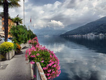 W Szwajcaria jeziorny Lugano Fotografia Royalty Free