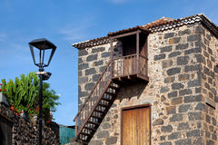 W Tacoronte kolonialna Wiejska Domowa Fasada, Tenerife zdjęcia stock