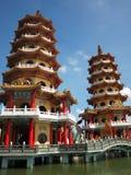 W Tajwan smok i Tygrysa Pagody Obrazy Royalty Free