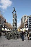 W Tarragona Castellers zabytek Zdjęcia Royalty Free