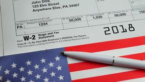 W-2 Taxes Form 2018 for man person