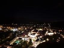 w ten sposób piękny feldkirch w nocy zdjęcie royalty free