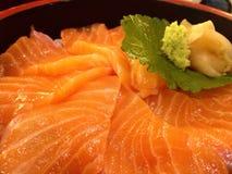 W ten sposób pomarańczowy Japoński jedzenie, Łososiowy wykładowca Zdjęcia Stock