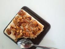W ten sposób słodki toffee tort Zdjęcia Royalty Free