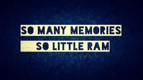 W ten sposób wiele memories_so mały baran obrazy royalty free